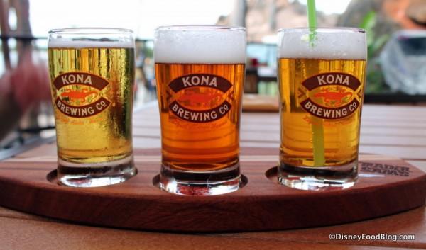 Kona Beer Flight at Trader Sam's Tiki Terrace