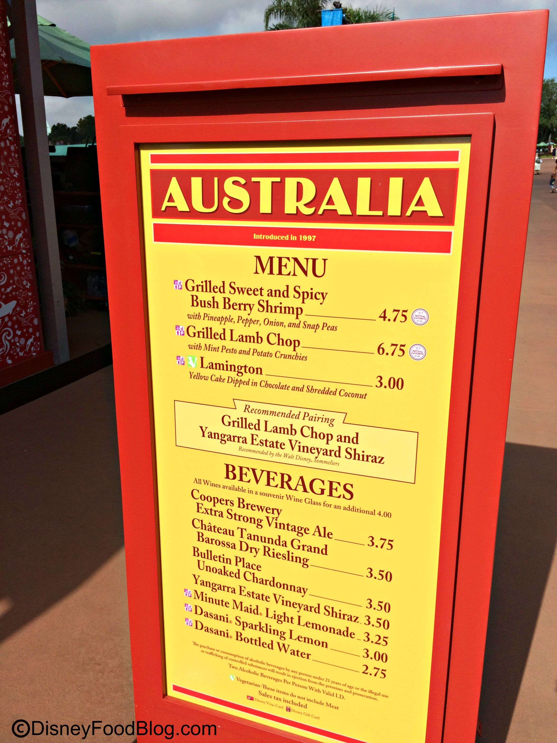 Australia 2016 epcot food and wine festival the disney for Australian cuisine menu