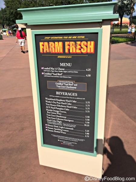 2015 Farm Fresh Menu