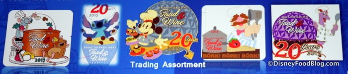 2015 Food and Wine Festival Pins