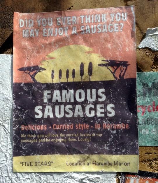 Famous Sausages signage