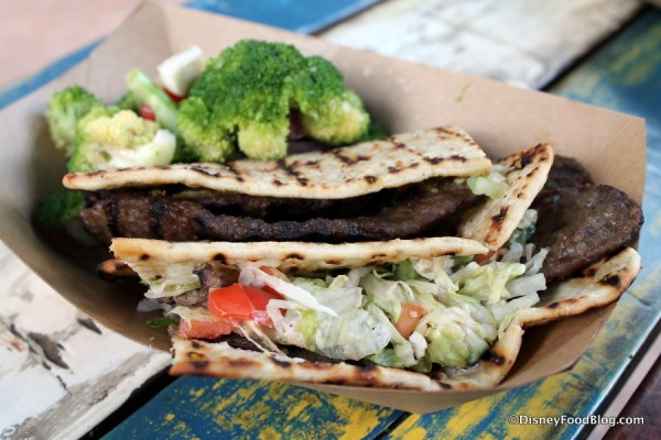Ground Beef Kabob Flatbread