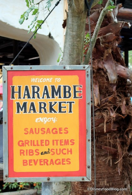 Harambe Market sign