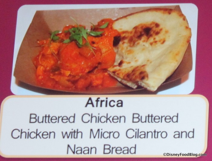 Butter Chicken with Micro Cilantro and Naan Bread