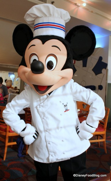 Chef Mickey at -- where else?!? -- Chef Mickey's!