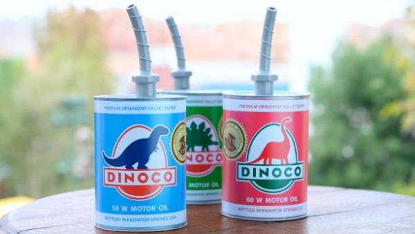 Cozy Cone Motel Dinoco Oil Can Sippers, ©Disney