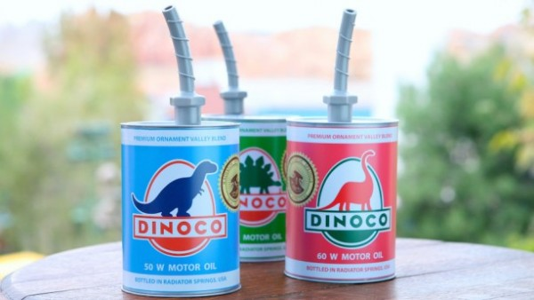 Cozy Cone Motel Dinoco Oil Can Sippers, ©Disney