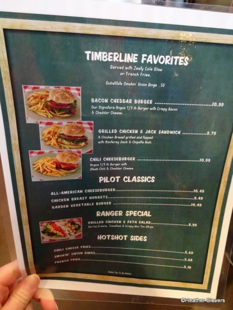 Timberline Favorites (Adult Menu)