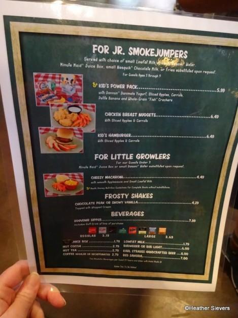 For Jr. Smokejumpers (Kids Menu)