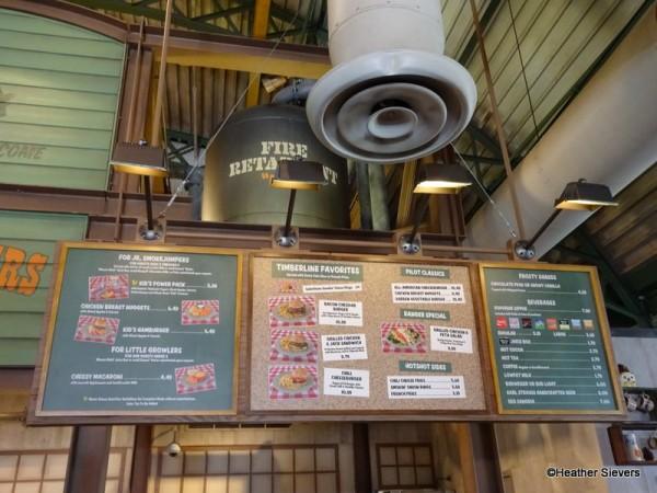 Menu Board Above Ordering Kiosks