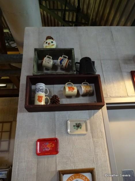 """Personal"" Coffee Mugs on Display"