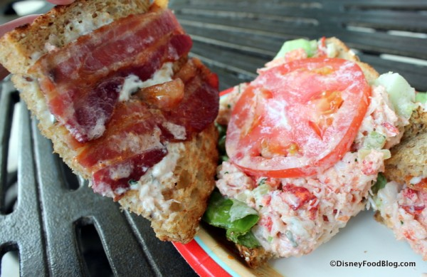 Inside the Lobster Club Sandwich