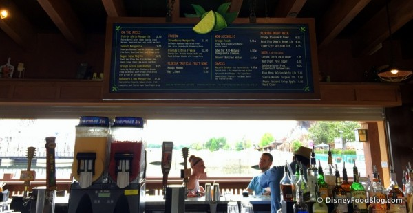 Overhead Bar Menu and the View. You Can Access the Bar From Three Sides