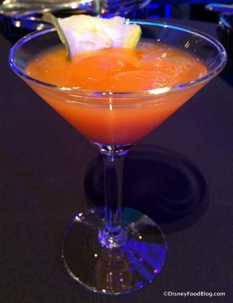 Crop Organic Meyer Lemon Vodka, Carrot Mango Juice and Citrus Sour Mix