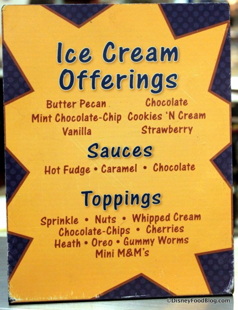 Ice Cream Offerings