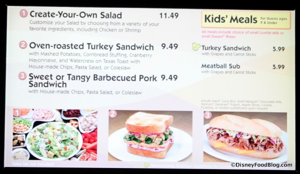 More Sandwiches Again Menu -- Click to Enlarge