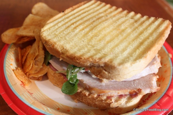 Oven Roasted Turkey Sandwich and Chips