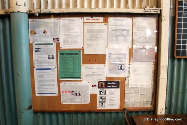 Warehouse bulletin board