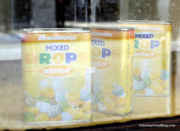 Goods in store window