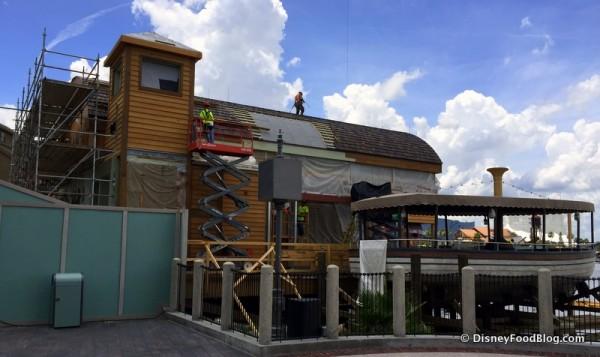 Construction of Jock Lindsey's Hangar Bar