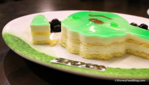Layers of the Yoda Key Lime Cake
