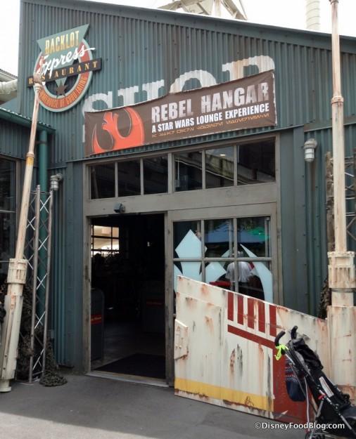 Backlot Express transformed into Rebel Hangar