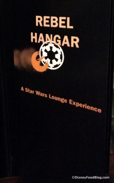 Rebel Hangar menu