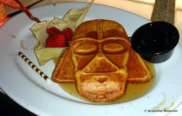 Darth Vader Waffle at Sci-Fi Dine In Restaurant