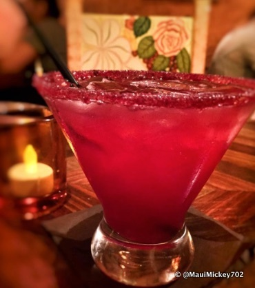 Yum -- La Cava del Tequila's NEW Pomegranate Margarita!