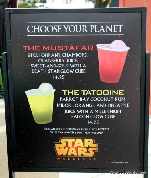 Star Wars Weekends Specialty Drinks