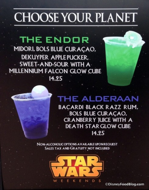 Star Wars Weekends Specialty Drinks