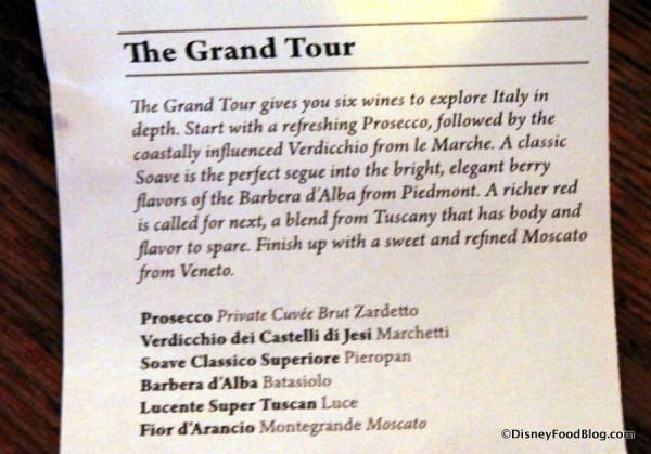 The Grand Tour Description Up Close -- Click to Enlarge