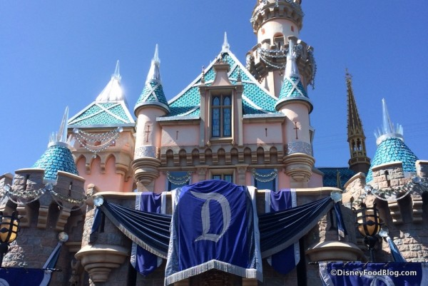 Disneyland's Sleeping Beauty Castle Sports new Bling for the 60th