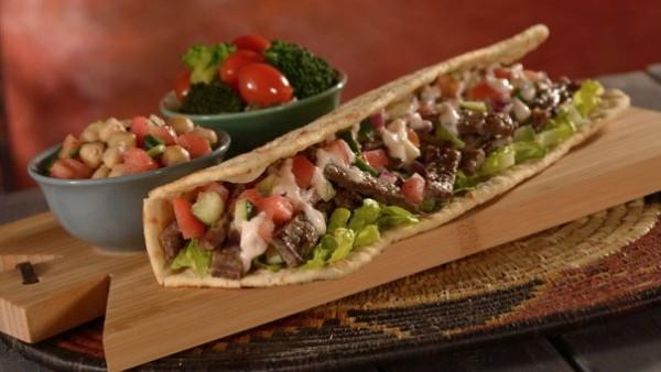 Kabob Flatbread Sandwich