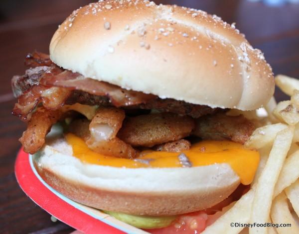 1/3 Pound Angus Onion Straw Burger