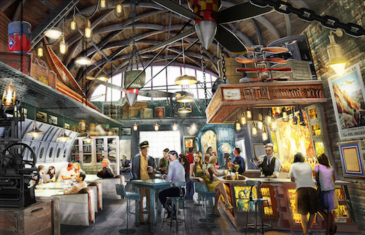 Hangar Bar Concept Art ©Disney