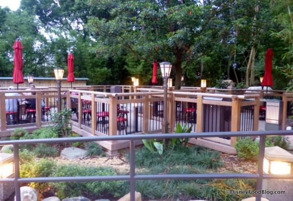 Japan Pavilion outdoor seating
