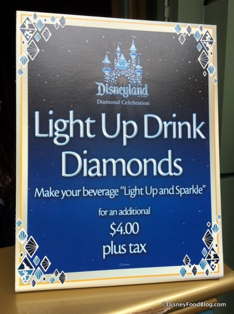 Light Up Drink Diamond sign