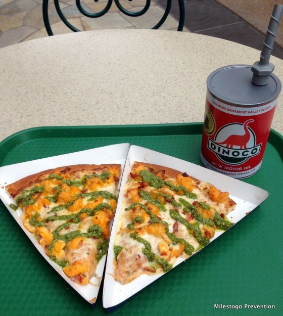 Mac and Cheese Pizza and Dinoco Sipper