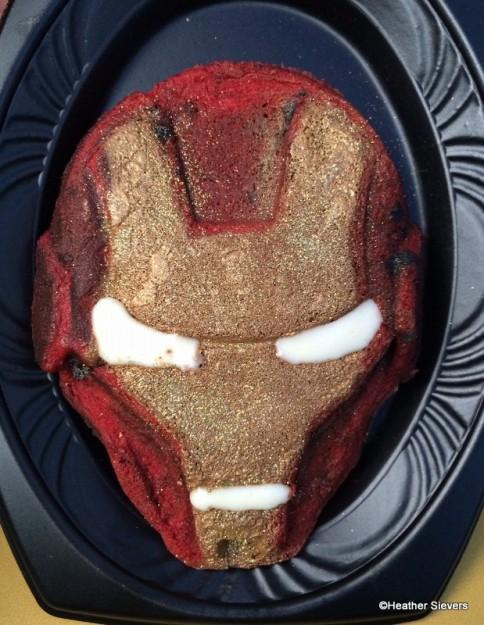Sparkly Iron Man Waffle Cake