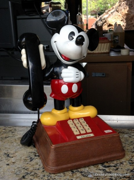 Mickey Mouse phone at Barefoot Pool Bar