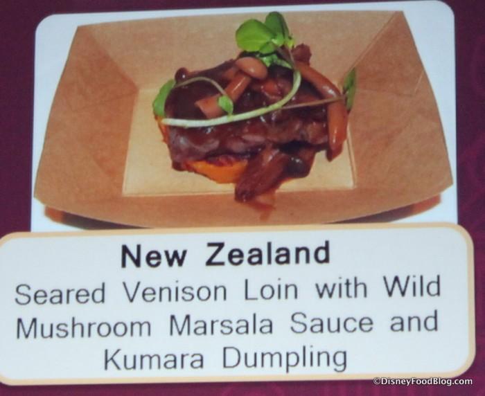 Seared Venison with Wild Mushroom Marsala Sauce and Kumara Dumpling