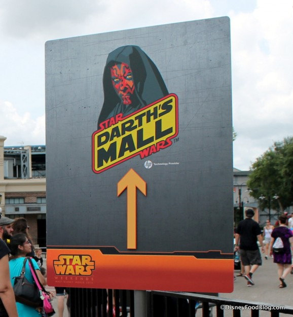 Darth's Mall is in the Streets of America