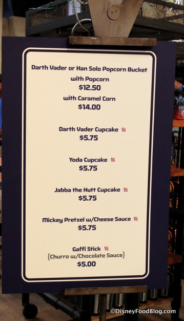 Tusken Fridge Raiders menu
