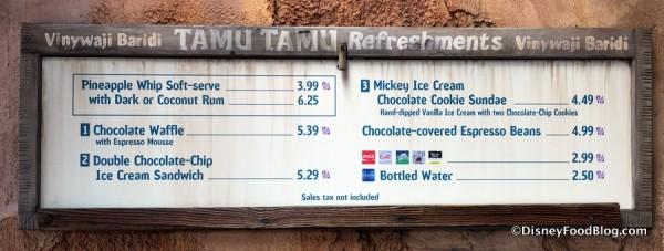 All-new Tamu Tamu menu