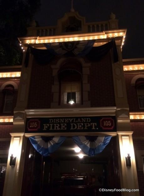 Walt's light in the Fire Station window