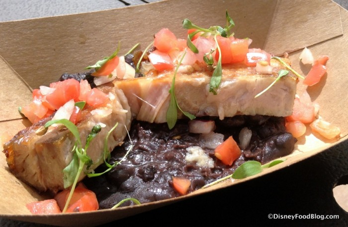 Crispy Pork Belly with Black Beans and Tomato