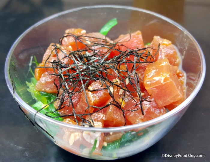 Hawaii Tuna Poke with Seaweed Salad and Nori Strings
