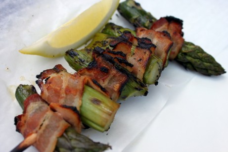 Bacon-wrapped Asparagus Safari Skewer