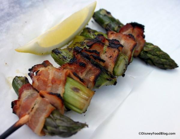 Bacon-wrapped Asparagus Safari Skewer